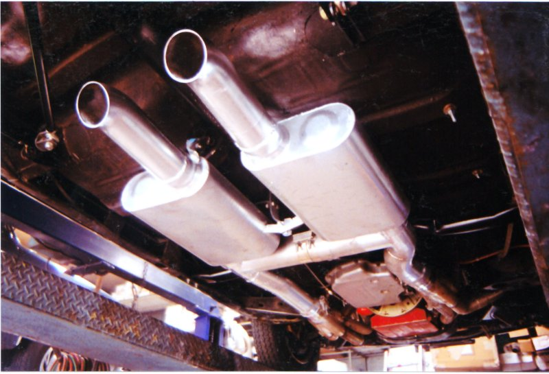 4 inch dual exhaust on a 1970 Chevelle